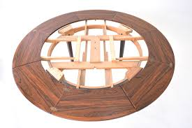 circle table with leaf rosewood flip flap table dyrlund smith danish homestore