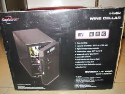 Temperature Controlled Wine Cellar - koolatron 6 bottle countertop temperature controlled wine cellar