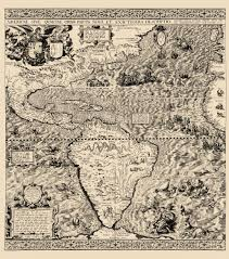 Map Of The Western Hemisphere Old Western Hemisphere Map Gutierrez 1562