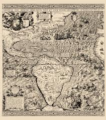 Map Of Western Hemisphere Old Western Hemisphere Map Gutierrez 1562