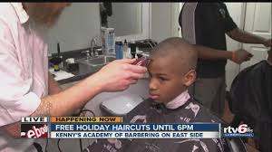 barber academy offering free holiday haircuts youtube