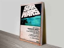 star wars wall art wall murals you ll love rogue one retro style poster wall art canvas australia