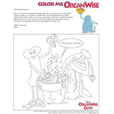 teach kids to eat high fiber foods coloring page