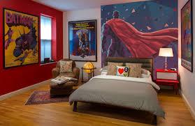 astonishing kids bedroom with superhero wall decals combined