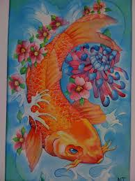koi tattoo in watercolor by tokoloshii on deviantart
