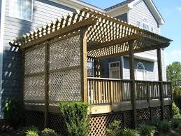 Deck Plans With Pergola by Best 25 Deck Pergola Ideas On Pinterest Deck With Pergola