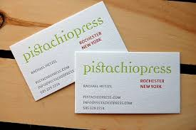 simple layout for this business card but the font colours and
