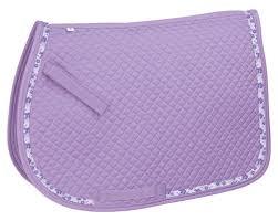 realtree ribbon perri s purple hibiscus ribbon trimmed saddle pad