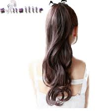 ribbon ponytail s noilite curly ribbon ponytail synthetic hair clip in hair