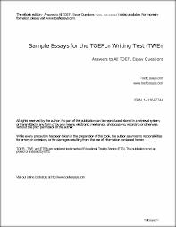 sample toefl essay doc 638826 toefl sample essays sample essay writing for toefl sample essays for the toefl writing test toeflessays the toefl sample essays