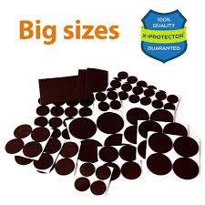 Furniture Rubber Floor Protectors by Premium Non Slip Furniture Pads 16 Piece 2