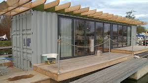 floating shipping container makes ideal low cost home anglia