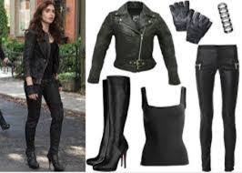 Black Leather Halloween Costumes Blouse Black Clary Fray Shadow Hunter Halloween Leather