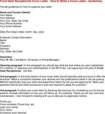 receptionist cover letter with experience