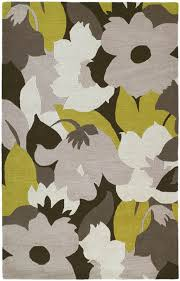 Modern Floral Rugs District17 Modern Floral Rug In Wasabi Floral Rugs