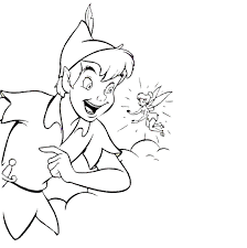 peter pan tinkerbell coloring pages glum