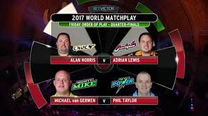 world matchplay darts day seven michael van gerwen v phil taylor