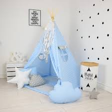 baby blue children u0027s teepee tent decorative kids u0027 play tents by