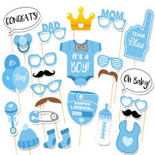 baby shower photo booth it is a boy baby shower birthday party photo booth