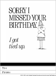 belated birthday printable greeting card