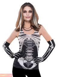 Halloween Skeleton Top by Mens Skeleton Tank Top Costume For Halloween Fancy Dress Ebay
