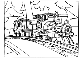 polar express train coloring pages cecilymae