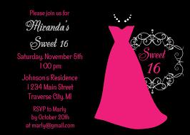 birthday invites wonderful sweet 16 birthday invitations design