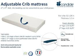 Crib Mattress Base Candide Infant Toddler 2 Stage Adjustable Crib