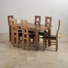 Seven Piece Dining Room Set Original Rustic Range Solid Oak Oak Furniture Land
