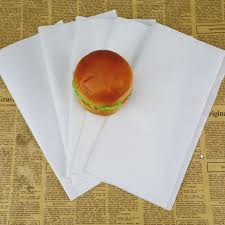 burger wrapping paper 100pcs white paper food grade paper food wrappers paper for bread