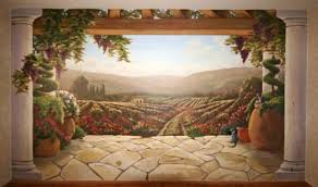 tuscan wall murals and here is the room view landscape