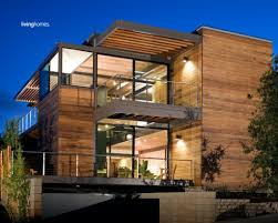 wood stone glass house design house ideas images with mesmerizing
