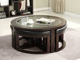 coffee table extraordinary round coffee table with stools ideas