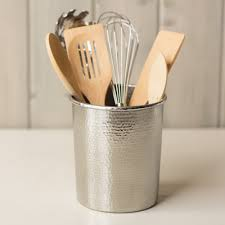 copper utensil holder in brushed nickel 4 and 7 inch native trails
