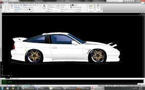 Cool Cad Drawings Nissan S13 Drawn In Autocad By Hypertek On Deviantart
