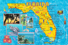 Florida State Map With Cities by Large Detailed Tourist Map Of Florida State Vidiani Com Maps