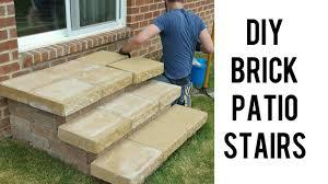 Brick Patio Diy Diy Building Brick Patio Stairs Youtube