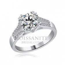 moissanite bridal reviews 2 ct center moissanite engagement ring