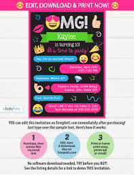 emoji invitations emoji party invitations emoji birthday