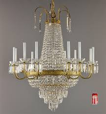 Marie Therese Crystal Chandelier Large Empire Bronze U0026 Crystal Chandelier C1950