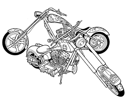 coloring pages motorcycle coloring pages free printable