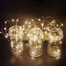 starry string lights wedding decoration sky jar wraps bendable copper wire led