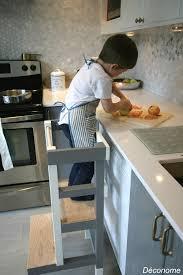 les enfants en cuisine fabriquer un tabouret de cuisine pour enfant déconome