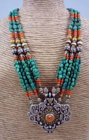 tibetan silver turquoise necklace images Tibet contemporary necklace made from antique tibetan elements jpg