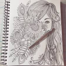 how to draw doodle faces speed doodling flowers