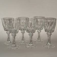 Wine Goblets 6 Mikasa Fair Lady Crystal Wine Glasses Goblets Sold On Ruby Lane