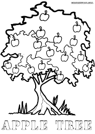 apple tree coloring page tree coloring pages coloring pages to download and print