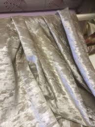 Crushed Velvet Fabric For Curtains Crushed Velvet Look Ivory Surplus Stock In Ivory By Curtain Fabric