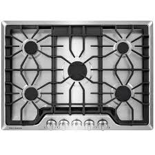 Frigidaire Downdraft Cooktop Shop Frigidaire 5 Burner Gas Cooktop Stainless Steel Common 30