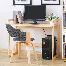 combin bureau biblioth que en bois massif pliage des ménages ordinateur de bureau moderne